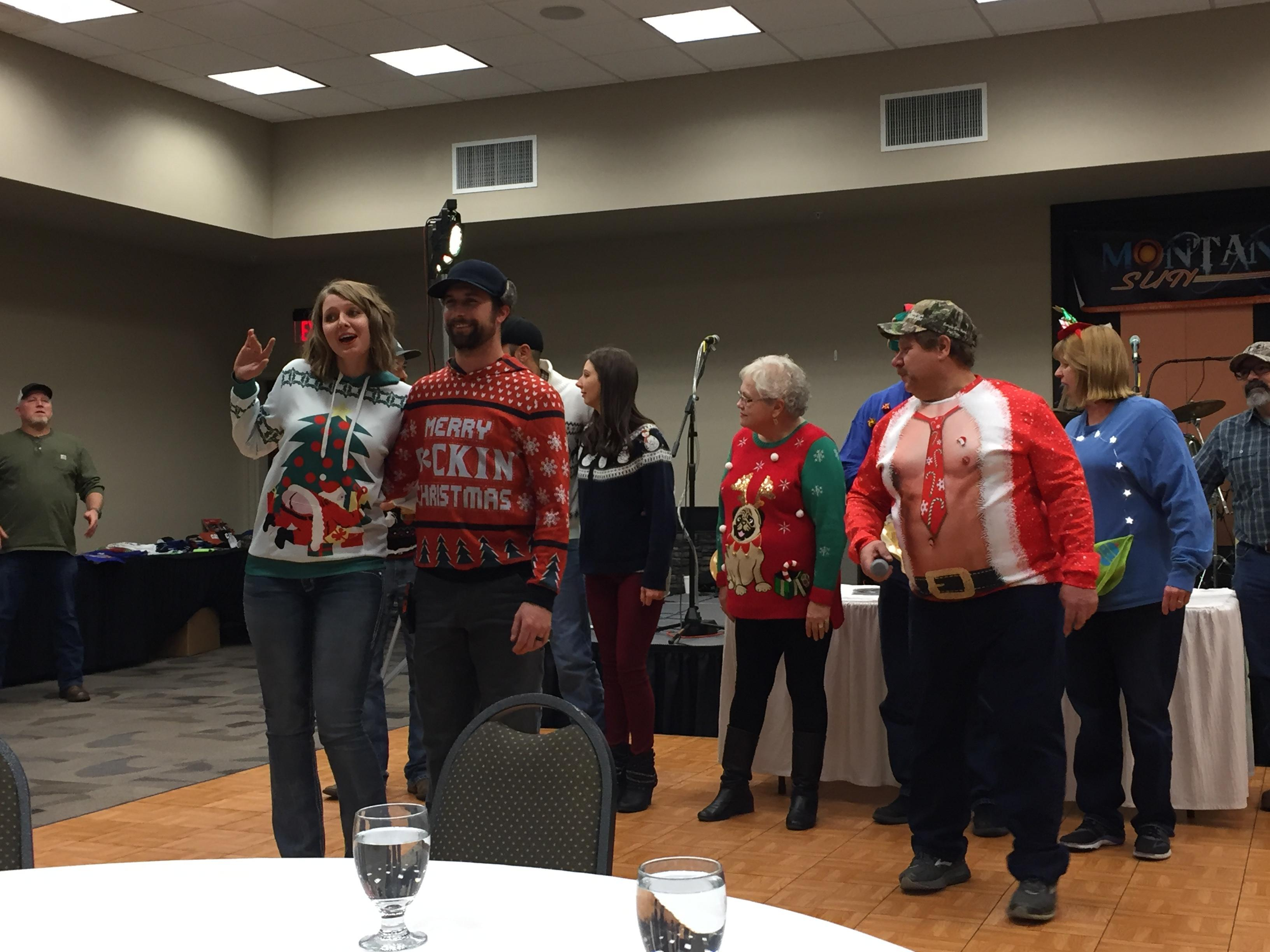 11.17.18 Ugly Sweater Contest Contestants